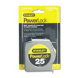 Stanley Bostitch - 33-425 - Powerlock II Power Return Rule, 1 x 25ft, Chrome/Yellow