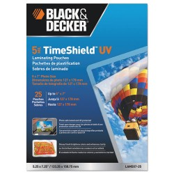 Stanley Bostitch - LAM5X7-25 - TimeShield UV Laminating Pouches, 5 mil, 5 x 7, 25/Pack