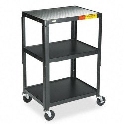 Bretford - A2642 - Bretford A2642 Height Adjustable A/V Cart - Black