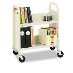 Bretford - R227 - Bretford R227 Stand For Books - 2 Shelf - Round Handle - 4 Caster Size - Steel - 26 Width x 14 Depth x 33 Height - Putty Beige