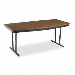 Barricks - ECT366WA - Barricks Foldable Conference Table - Boat Top - 72 Table Top Length x 36 Table Top Width x 1.25 Table Top Thickness - 30 Height