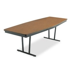 Barricks - ECT368WA - Barricks Foldable Conference Table - Boat Top - 96 Table Top Length x 36 Table Top Width x 1.25 Table Top Thickness - 30 Height