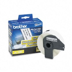 Brother International - DK1201 - Brother DK1201 - Standard Address White Paper Labels - 3.14 Width x 1.14 Length - 400 / Roll - Direct Thermal - White - Paper - 400 / Roll
