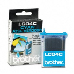 Brother International - LC04C - Brother LC04C Original Ink Cartridge - Inkjet - 410 Pages - Cyan - 1 Pack
