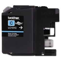 Brother International - LC101C - Brother Genuine Innobella LC101C Cyan Ink Cartridge - Inkjet - Standard Yield - 300 Pages - Cyan - 1 Each