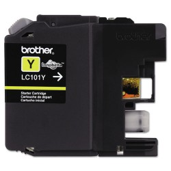 Brother International - LC101Y - Brother Genuine Innobella LC101Y Yellow Ink Cartridge - Inkjet - Standard Yield - 300 Pages - Yellow - 1 Each
