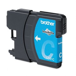 Brother International - LC61C - Brother Cyan Ink Cartridge - Inkjet - 325 Page - 1 Each