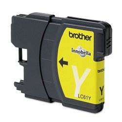 Brother International - LC61Y - Brother Yellow Ink Cartridge - Inkjet - 325 Page - 1 Each