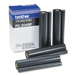 Brother International - PC204RF - Brother Black Refill Ribbon Rolls - Thermal Transfer - 450 Page - 4 / Box
