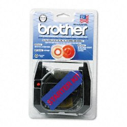 Brother International - SK100 - Brother SK100 Ribbon - Black - 1 Each
