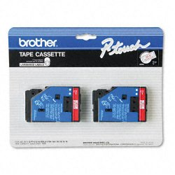 Brother International - TC11 - Brother TC Laminated Tape Cartridges - 1/2 Width x 25 ft Length - Thermal Transfer - Clear - 2 / Pack