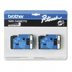 "Brother International - TC34Z - Brother TC Laminated Tape Cartridges - 0.37"" Width x 25"" Length - Direct Thermal - Black - 2 / Pack"