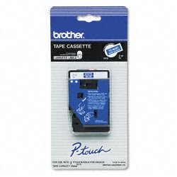 "Brother International - TC64Z1 - Brother Laminated Tape - 0.35"" Width x 26.30 ft Length - Blue - 1 Roll"