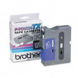 Brother International - TX1411 - Brother TX Series Laminated Tape Cartridge - 3/4 Width x 50 ft Length - Direct Thermal - Clear - 1 Each