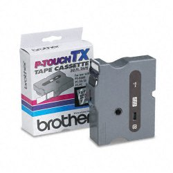 "Brother International - TX1511 - Brother TX Series Laminated Tape Cartridge - 1"" Width x 50 ft Length - Clear - 1 Each"
