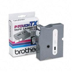 Brother International - TX1551 - Brother TX Series Laminated Tape Cartridge - 61/64 Width x 50 ft Length - Direct Thermal - Clear - 1 Each