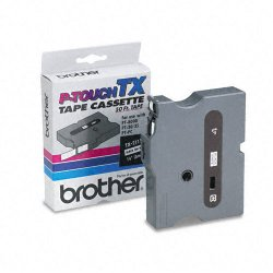 "Brother International - TX2111 - Brother P-Touch TX-2111 Laminated Tape - 0.23"" Width x 50 ft Length - Direct Thermal - White - 1 Each"