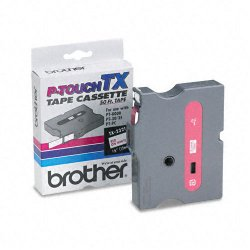 "Brother International - TX2321 - Brother P-Touch TX Laminated Tape - 0.50"" Width x 50 ft Length - White - 1 Each"