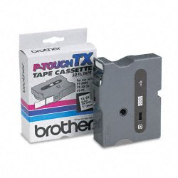 "Brother International - TX2511 - Brother TX Series Laminated Tape Cartridge - 1"" Width x 50 ft Length - Direct Thermal - White - 1 Each"