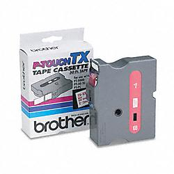 Brother International - TX2521 - Brother TX Series Laminated Tape Cartridge - 61/64 Width x 50 ft Length - Direct Thermal - White - 1 Each