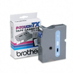 "Brother International - TX2531 - Brother P-Touch TX-2531 Laminated Tape - 0.95"" Width x 50 ft Length - White - 1 Each"