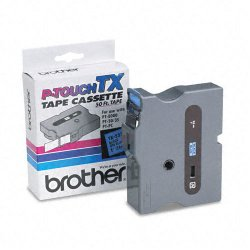 "Brother International - TX5511 - Brother Tape(s) - 1"" Width x 50 ft Length - Direct Thermal - Black, Blue - 1 Each"