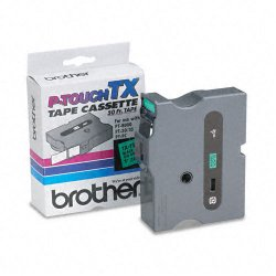 Brother International - TX7511 - Brother TX Series Laminated Tape Cartridge - 1 Width x 50 ft Length - Green - 1 Each