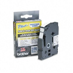 "Brother International - TZEFA3 - Brother TZeFA3 Ptouch Iron-On Tape - 0.47"" Width x 118.11"" Length - Thermal Transfer - White, Navy Blue - 1 Each"