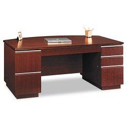 Bush Industries - 50DBF72A2CS - Bush Milano Collection Bow Front Double Pedestal Desk (Each)