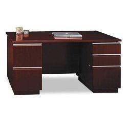 Bush Industries - 50DDP60A1CS - Bush Milano Collection Double Pedestal Desk (Each)
