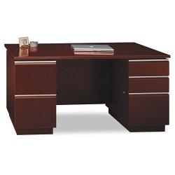 Bush Industries - 50DDP60A2CS - Bush Milano Collection Double Pedestal Desk (Each)
