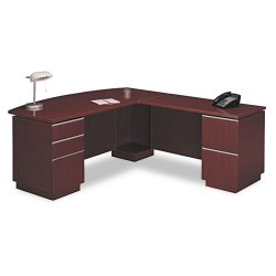 Bush Industries - 50DLL72A1CS - Bush Milano Collection Left L-Desk with Full Pedestal (Each)