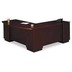 Bush Industries - 50DLR72A1CS - Bush Milano Collection Right L-Desk with Full Pedestal (Each)