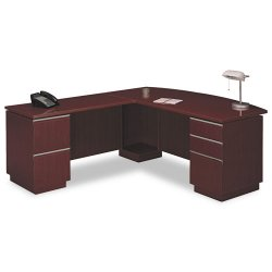 Bush Industries - 50DLR72A2CS - Bush Milano Collection Right L-Desk with Full Pedestal (Each)
