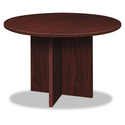 basyx (HON) - BLC48DNN - BL Laminate Series Round Conference Table, 48 dia. X 29 1/2h, Mahogany