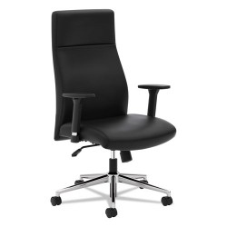 basyx (HON) - BSXVL108SB11 - VL108 Executive High-Back Chair, Black Leather