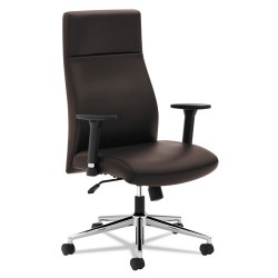 basyx (HON) - BSXVL108SB45 - VL108 Executive High-Back Chair, Brown Leather