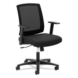 basyx (HON) - BSXVL511LH10 - VL511 Mesh Mid-Back Task Chair with Arms, Black