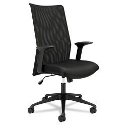 "basyx (HON) - VL573VB10 - High-Back Task Black Fabric Desk Chair, 46-1/4"" Overall Height"