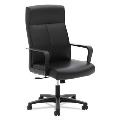 basyx (HON) - BSXVL604SB11 - VL604 Series High-Back Executive Chair, Black SofThread Leather