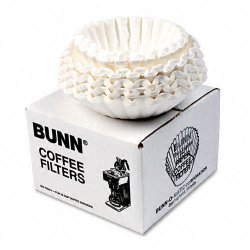 Bunn-O-Matic - BCF-250 - Flat Bottom Coffee Filters, 12-Cup Size, 250/Pack