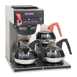Bunn-O-Matic - 12950.0212 - CWTF-3 Three Burner Automatic Coffee Brewer, Stainless Steel, Black
