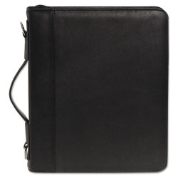 Buxton - OC33785.BK - Zip-Around Cal-Q Folio, Smooth Cover, Calculator, 3-Ring, Pad, Pocket, Black