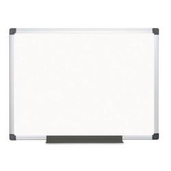 Bi-silque - CR0601170MV - Porcelain Value Dry Erase Board, 24 x 36, White, Aluminum Frame