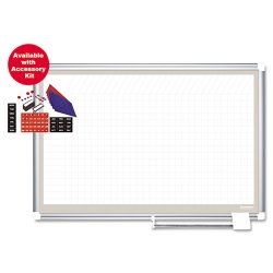 Bi-silque - CR0832830A - All Purpose Magnetic Planning Board, 1 x 2 Grid, 48 x 36, Aluminum Frame