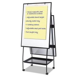 Bi-silque - EA49145016 - Creation Station Magnetic Dry Erase Board, 29 1/2 x 74 7/8, Black Frame