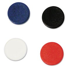 Bi-silque - IM140909 - Interchangeable Magnetic Characters, Circles, Assorted, 3/4 Dia, 10/Pack