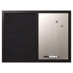 Bi-silque - MX04433168 - MasterVision Dry-erase Combination Board - 18 Height x 24 Width - Felt Surface - Magnetic, Lightweight - Black Medium Density Fiber (MDF) Frame - 1 Each