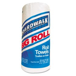 Boardwalk - BWK 6273 - Perforated Paper Towel Roll, 2-Ply, White, 11 x 8 1/2, 250/Roll, 12 Rolls/Carton