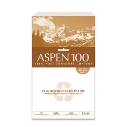 Boise Cascade - 054924 - ASPEN 100% Multi-Use Recycled Paper, 92 Bright, 20lb, 8-1/2 x 14, White